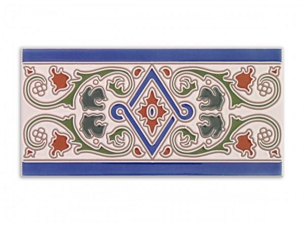"Spanische Fliese ""Cenefa Nerja"" 14x28 cm"
