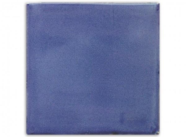 """Mexikanische Fliese, handbemalt, einfarbig """"Blau gewaschen"""" ca. 10x10cm"""