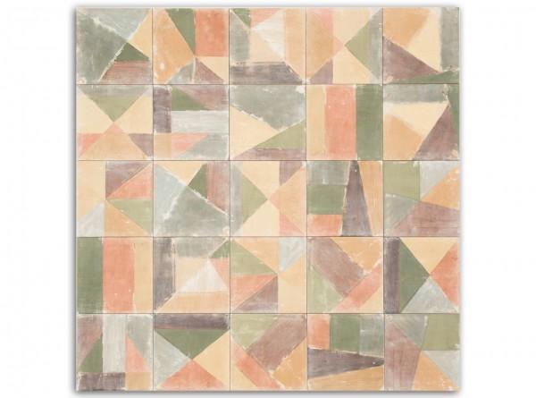"""1 qm """"Cementine Brush Ocre"""", spanische Wandfliesen, Patchwork"""