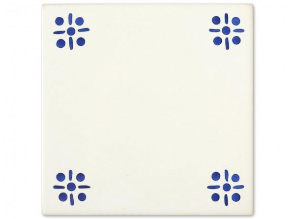 """Dekorfliese """"Braga zweite Wahl"""", Handbemalt, 14x14 cm"""