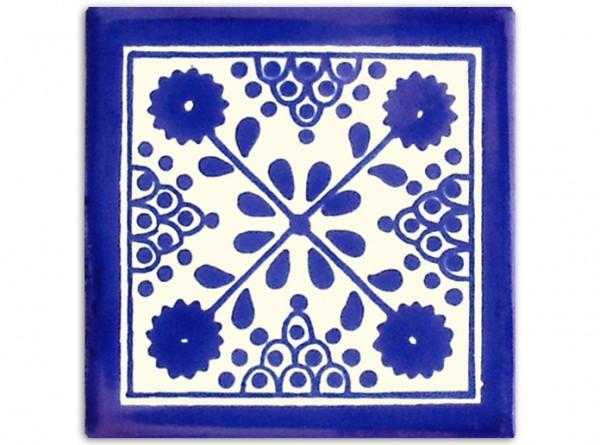 """Fliese """"Damasco"""", handbemalt, ca. 10x10cm, Mexiko"""