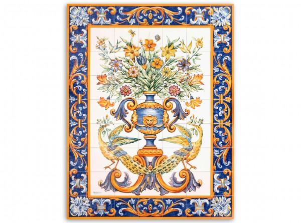 "Port. Fliesenbild, handbemalt, Motiv ""Albarradas"", 98x126cm"