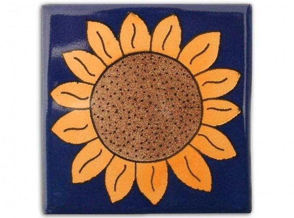 """Fliese """"Girasol"""", handbemalt, ca. 10x10cm, Mexiko"""