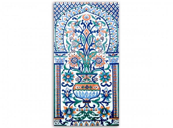 """Tunesisches Fliesenbild """"Tunis 111"""", 75x150 cm"""