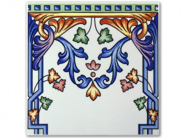 """Spanische Wandfliese """"Zocalo Mallorca Azul 1"""", 20x20cm"""