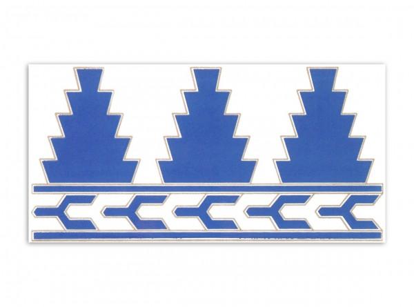 """Spanische Fliese """"Cenefa Fatima Azul"""", 14 x 28 cm"""