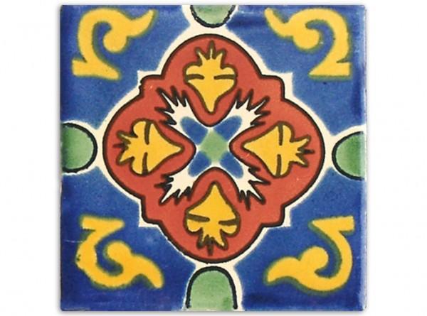 "Fliese ""Dolores"", handbemalt, ca. 10x10cm, Mexiko"