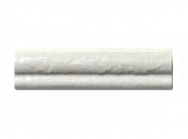 """Spanische Abschlußfliese """"Moldura Livorno Blanco"""", 5x20 cm"""