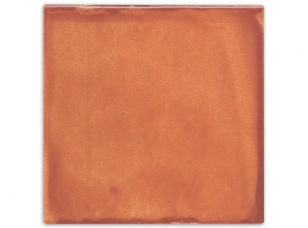 """Mexikanische Fliese, handbemalt, einfarbig """"Braun gewaschen"""" ca. 10x10cm"""