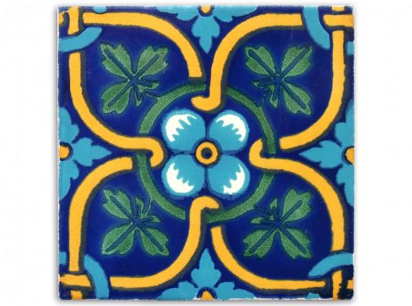 "Fliese ""Flor de Maple"", handbemalt, ca. 10x10cm, Mexiko"