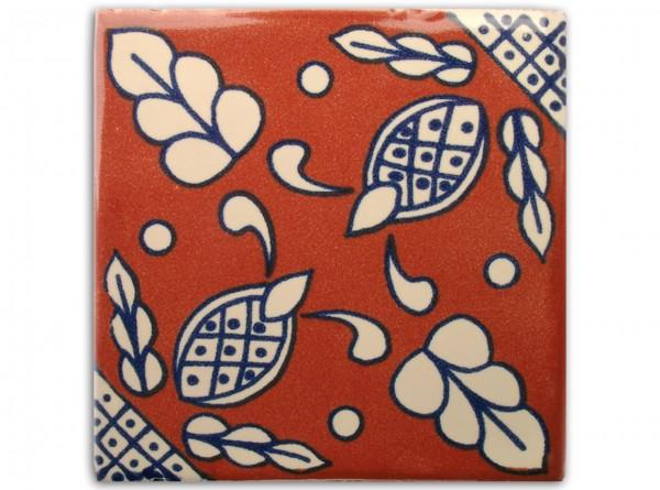 "Fliese ""Capullo"", handbemalt, ca. 10x10cm, Mexiko"