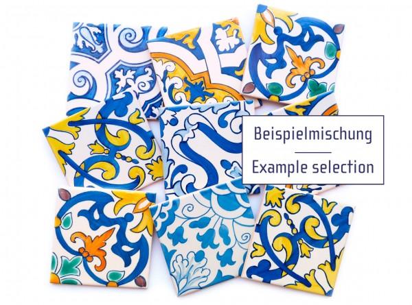 9 portugiesische Wandfliesen, Azulejos, je 14x14 cm, B-Ware, Pauschalpreis