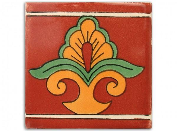 "Fliese ""Sarah"", handbemalt, ca. 10x10cm, Mexiko"