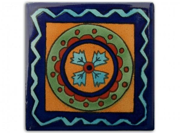 "Fliese ""Circo"", handbemalt, ca. 10x10cm, Mexiko"