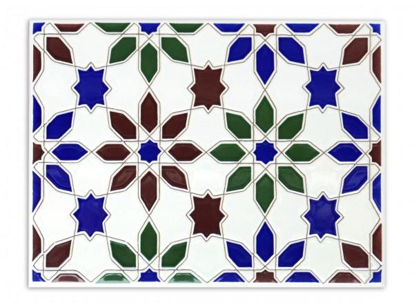 "Spanische Wandfliese ""Zocalo Jazmin M-2"", 15x20 cm"